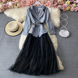Blazer Combination Dress