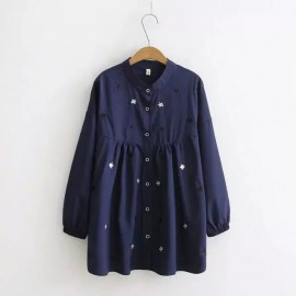 LM+ Motif Embroidered Blouse