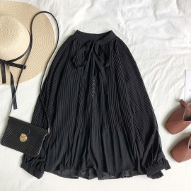 Pleated Babydoll Blouse