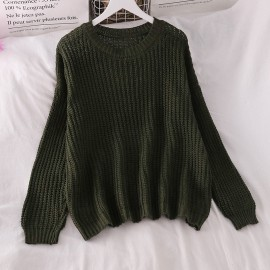 Slouchy Knit Pullover