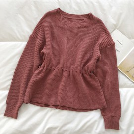Knit Pullover with Waist Detail