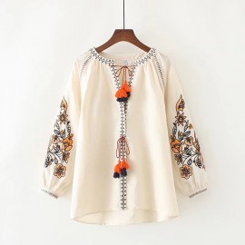 LM+ Tribal Embroidered Blouse