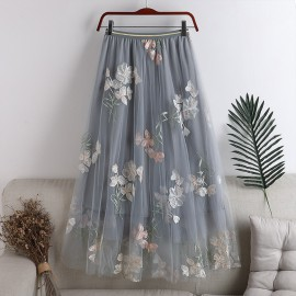 Floral Applique Skirt