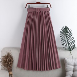 Pleated Skirt with Belt